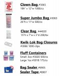 Cotton Candy, Candy Floss, bags, containers, sealer