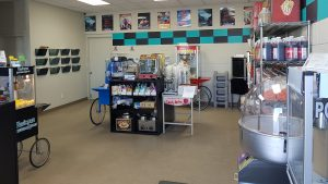 equipment showroom, pop corn, cotton candy, Ultimate Concession Supply
